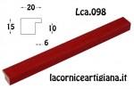 CORNICE PIATTINA ROSSO OPACO 17,6X25 B5 LCA.098