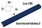 CORNICE PIATTINA BLU OPACO 30X65 LCA.100